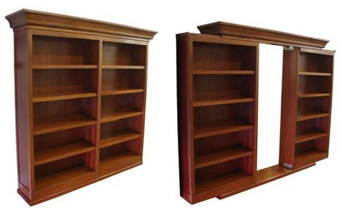 bookshelf plans with doors